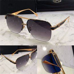 TiTanium rimless frames online shopping - Top luxury K gold men sunglasses car brand Maybach THE DEELANT I fashion designer top outdoor uv400 eyewear square half frame with case
