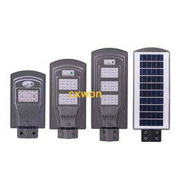 Remote contRolled outdooR lights online shopping - New W W W Solar LED Street Light IP65 Integrated PIR Motion Sensor Outdoor Wall Light with Pole Remote Control