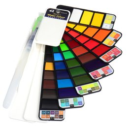 Painting Faces UK - Foldable 18 42 Colors Face Body Paint Oil Painting Art Makeup Water Based Pigment Halloween Party Fancy Dress Tattoo Beauty