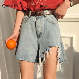 $enCountryForm.capitalKeyWord Australia - QoerliN Vintage Ripped Big Size L-4XL High Waist Denim Shorts Female Short Jeans Women Hot Shorts Koreans Style Lady Trouser
