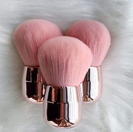 Round plastic haiR bRushes online shopping - Mushroom Blush Makeup Brush Mini Soft Powder Brush Rose Gold Flat Head Round Head Protable Makeup Brushes Cute Cosmetic Tools