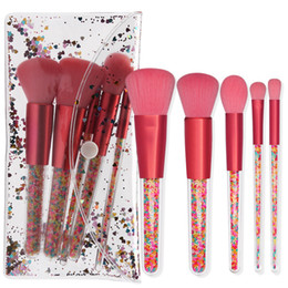 Candy Making Tools Australia - 5pcs Makeup Brushes Set Colorful Candy Eyeshadow Loose Powder Highlighter Blush Make Up Brush Tools with Cosmetic Bag