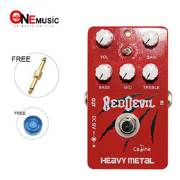 vintage effect pedals NZ - Caline CP-30 Heavy Metal guitar Effect Pedal with Vintage and Modern Style Similar to Tube Sound red color+Free Connector