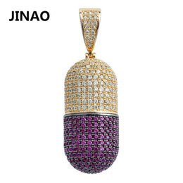 $enCountryForm.capitalKeyWord Australia - Jinao Hip Hop Fashion Jewelry Pill Necklace Can Open Capsules Pendant Cubic Zircon Copper Necklace Iced Out Detachable Unisex J190625