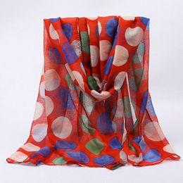 $enCountryForm.capitalKeyWord UK - High Quality Dot Print Scarf Women Spring Red Scarves Wraps Femal Cotton Polyester Long Shawls Girls Beach Headscarf Hijabs