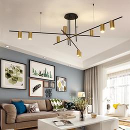 Venta al por mayor de Diseño creativo Lámparas de araña LED Personalidad Lámpara colgante colgante para sala de estar Café Bar Bar Estudio Restaurante