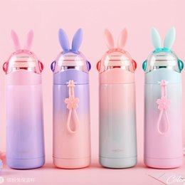 $enCountryForm.capitalKeyWord NZ - Cute Cartoon Rabbit Water Bottles 350ML Stainless Steel Thermos Cup Mug Christmas Gift for Kids Children