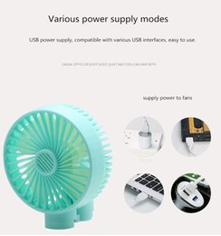 $enCountryForm.capitalKeyWord Australia - Mini Foldable USB Fan Silent designing Electric Fans Fast Charging Fan Summer Air Cooler 3 Color Kids Toys Random Adjustment of Two Gears