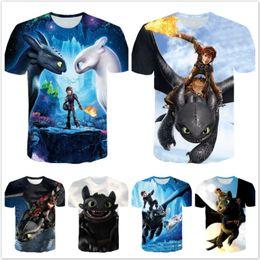 Yellow tshirt boYs online shopping - New Summer Baby Boy T Shirt How To Train Your Dragon Kids T shirt Cotton D Print TShirt Boys Tees Girls Tops Children