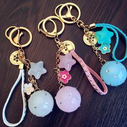 $enCountryForm.capitalKeyWord Australia - 2019 Cartoon cute candy color five-pointed star keychain jelly color acrylic beads key chain female bag pendant sweet key chain