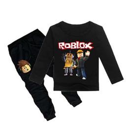 $enCountryForm.capitalKeyWord UK - children Roblox Game Print Sports suit boy T-shirt + pants 2Pcs Kids spring new cotton Tops Tees suit fashion clothes Leisure