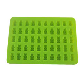$enCountryForm.capitalKeyWord Australia - 50 Holes Small Bear Silicone Gummy Candy Mold Ice Chocolate Tray w  Dropper cartoon Cubs silicone mold DIY jelly ice mould 50pcs