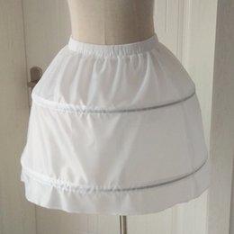 35ede48abbb Nouvelle arrivée enfants jupons pour la robe de demoiselle de mariage  accessoires de mariée blanc   noir   rouge 2 cerceaux enfants crinoline  jupon