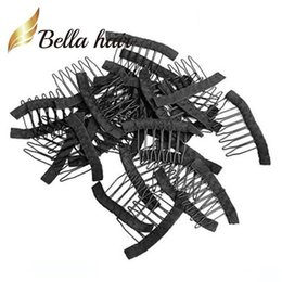 Wholesale Bella Hair? Professional 32 pcs wigs Combs for wigs Caps to Make wigs Black Color Clips for Fix wigss Julienchina