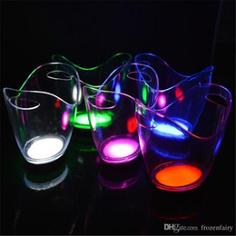 $enCountryForm.capitalKeyWord Australia - New product 5 pieces lot single color rechargeable luminous 4L LED ICE Bucket champagne beer ice bucket for bars decoration