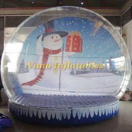 inflatable show Australia - Christmas Snowing Ball Inflatable Christmas Show Globe 4m High Transparent Snow Balls with Picture Free Pump Free Shipping