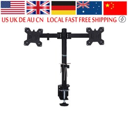 "Lcd Screen Stands Australia - Dual LCD Monitor Desk Mount Stand Fully Adjustable Screen up to 27"" for Computers PC"