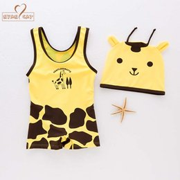 $enCountryForm.capitalKeyWord Australia - NYAN CAT baby boys swimsuit infant toddler kids children giraffe animal swimwear hat+swimwear spa beach Cute Cartoon Swimsuit