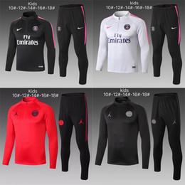 Kids Jackets S Letter Canada - New kids Psg tracksuit half zipper 2019 2020 psg soccer jogging jacket MBAPPE POGBA 18 19 Paris child football training suit