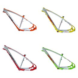 Mountain Bike Green NZ - Chinese brand NEAS TY factory wholesale carbon fiber mountain bike riding equipment in various colors, red   yellow   orange   labeled frame