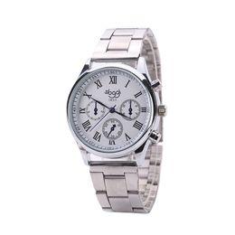 Men White Stainless Watch NZ - Men Watch Black Roman Numeral Pointer White Dial Dress Quartz Wrist Watch Stainless Steel Strap montre homme zegarek meski reloj