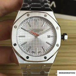 mens di lusso di alta qualità orologi 41 millimetri Royal Oak 15202 Sapphire vetro acciaio inox meccanici Sport orologio automatico master orologi da polso in Offerta