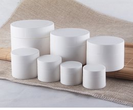 $enCountryForm.capitalKeyWord Australia - 300pcs lot 15g 15ml Frosted Surface PP White Face Cream jars , plastic empty cosmetic container, Mask Container