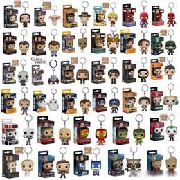 Super Heroes Figurines Australia - Funko POP Marvel Super Hero Harley Quinn Deadpool Harry Potter Goku Spiderman Joker Game of Thrones Figurines Toy Keychain action figures
