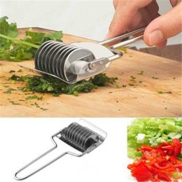 Multi Slicer Chopper Cutter Australia - Stainless Steel Onion Chopper Slicer Garlic Coriander Cutter Multi-functional Sliced Garlic Rolling Pin Gadget Kitchen Tools OOA6692