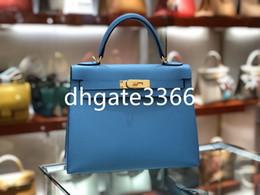 Handmade leatHer ladies wallets online shopping - Designer Luxury Handbag Wallet Designer Bag Designer Messenger Bag Lady Bag Import Top Cow Leather Handmade