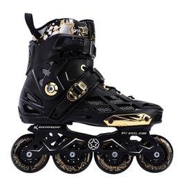 Tuhaojin модернизированный выпуск для взрослых ночь Флэш оптический катание на коньках профессиональный роликовые коньки один прямой ролик плоский цветок обувь для мужчин и