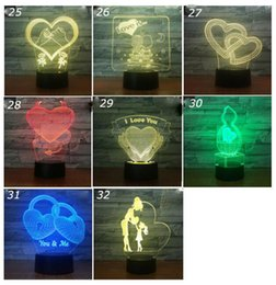 $enCountryForm.capitalKeyWord Australia - Valentine's Day 3D USB Night Lamp Creativity 3D Stereo Touch Lights Love Heart Multicolor Decorative Night Lamps Table Desk Lamp Gifts