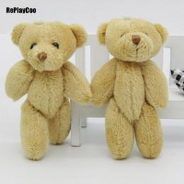 Ted sTuffed bear online shopping - 100PCS Kawaii Small Joint Teddy Bears Stuffed Plush CM Toy Teddy Bear Mini Bear Ted Bears Plush Toys Brown Gifts