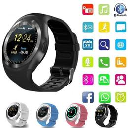 $enCountryForm.capitalKeyWord NZ - Smart Watch Y1 Support Alarm Intelligent SIM Card TF Card Intelligent portable Bluetooth Smartwatch for iOS Android pk A1 U8 DZ09