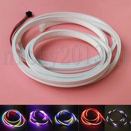 NeoN flex tubes online shopping - 2M WS2812B RGB LED Pixel Neon Tube Flex Strip Light LEDs V Silica Gel Flat IP67 Waterproof mm mm Magic Addressable Individual