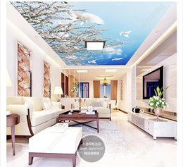 $enCountryForm.capitalKeyWord Australia - 3D ceiling large custom photo zenith mural wallpaper Plant flower day white dove living room restaurant zenith ceiling mural Papel de parede
