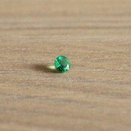 Продвижение природных Изумруд сыпучих камень 3 мм*3 мм круглой формы 0.1 ct природных Колумбия изумруд сыпучих камень для кольца