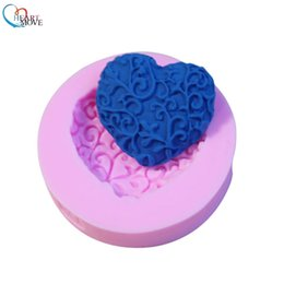 $enCountryForm.capitalKeyWord NZ - Hot Sale Baking Fondant Mould Wedding Love Heart Shape Silicone Mold Cake Decoration tools handmade soap mold Heart Mould 9095