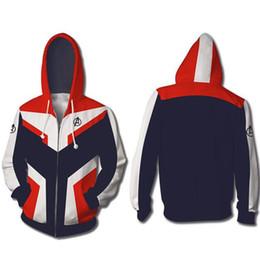 $enCountryForm.capitalKeyWord UK - Marvel The Avengers 4 Endgame Quantum Realm Cosplay Costume Hoodies Men Hooded Avengers Zipper End Game Sweatshirt Jacket