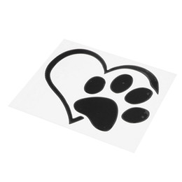Discount cat sticker car window Pet Paw Love Heart Pattern Car Window Stickers Vinyl Cats Dogs Decals
