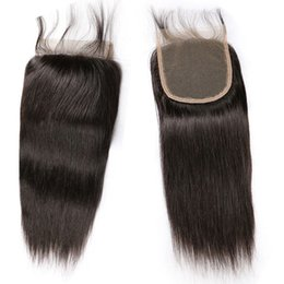5x5 lace closure bleached knot Australia - Best Brazilian Indian Peruvian Malaysian Virgin Hair 5x5 Lace Closures Bleached Knots Pre Plucked Baby Hair Natural Hairline for Sale Salon
