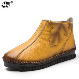 $enCountryForm.capitalKeyWord UK - Plus Size 35-43 Autumn Winter Women Boots Soft Genuine Leather Flat Ankle Boots Women Warm Casual Shoes Zip Short Boots ujk90