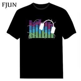 $enCountryForm.capitalKeyWord Australia - Fjun Sound Activated Led T Shirt Light Up And Down Flashing Equalizer El T-shirt Men Dj Music Short Sleeve O Neck Black Tops J190717