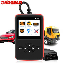 heavy duty reader 2019 - 2019 New Car Truck Diagnosis V500 obd2 Scanner Heavy Duty Truck Diagnostic Tool Code Reader Auto Scanner V500 Truck Diag