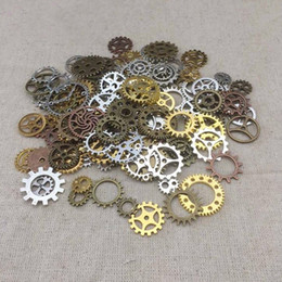 Gear made online shopping - Hot Sale Vintage Mixed Steampunk Punk Style Gear Cogs Pendants Necklace DIY Jewelry Making Watch Parts Jewelry Findings