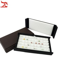 $enCountryForm.capitalKeyWord Australia - New Superior Leather With Magnet Cover Diamond Display Case 50 Grid Gemstone Pear Jewelry Storage Holder Organizer Travel Tray