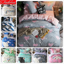 grey red bedding sets 2019 - New Grey Pink AB Double Side Duvet Cover 3 4 pcs Bedding Set Adult Kids Soft Cotton Single Queen King Size Bedspreads Be