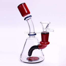 "glass water pipe oil drum Australia - 6"" Dab Rig Glass Bong Recycle Water Pipe Heady Beaker Bong Colorful Joint Drum Rig Wax Oil Rigs Small Bubbler"