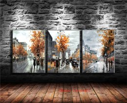 Chinese  Girl Umbrella Urban Rain ,3P Canvas Pieces Home Decor HD Printed Modern Art Painting on Canvas (Unframed Framed) manufacturers
