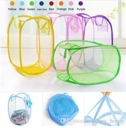 $enCountryForm.capitalKeyWord Australia - Nylon Mesh Fabric Laundry Storage Basket For Toy Washing Basket Dirty Clothes Sundries Basket Box Foldable